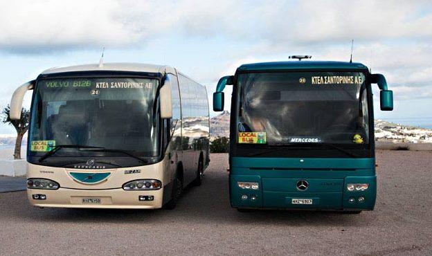 santorini bus
